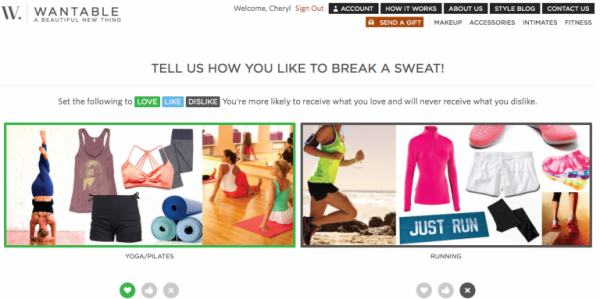 Wantable Fitness Review: Survey Question