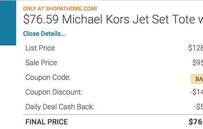 Get A Michael Kors Jet Set Nylon Tote For $76.59 Today From Macy's (Normally $128)