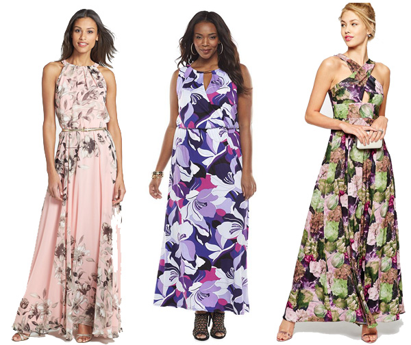 Wedding wednesday floral dresses to wear to spring for Plus size maxi dresses for summer wedding