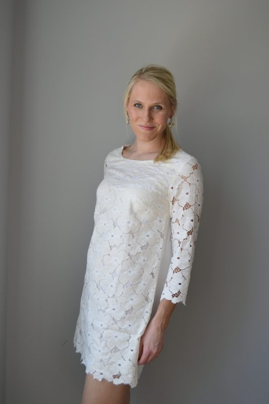 Golden Tote Selection- Floral Lace Dress