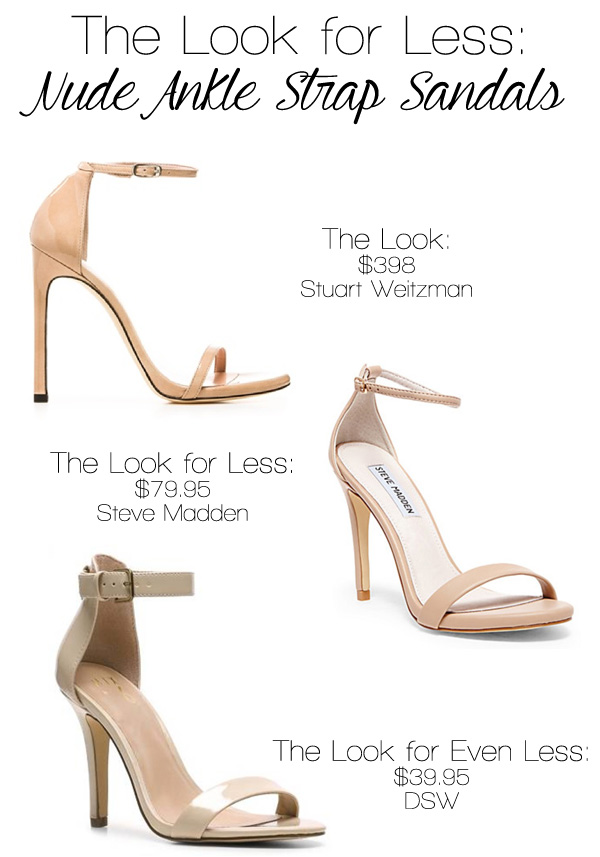 20604be7dc The Look for Less: Nude Ankle Strap Sandals – Shop Girl Daily