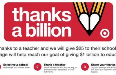Target Thanks Teachers
