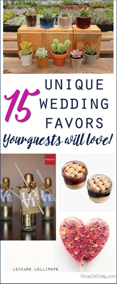 15 Unique Wedding Favors your Guests are Sure to Love | ShopGirlDaily.com