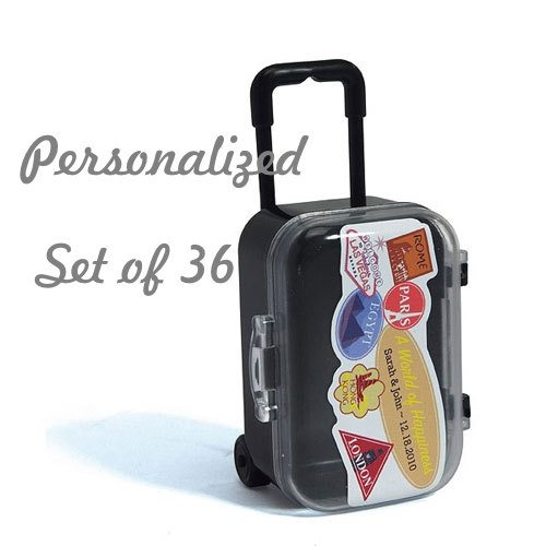 Personalized Suitcase Wedding Favor