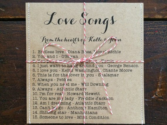 wedding songs wedding favor