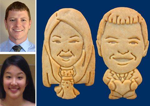 Unique Wedding Favors: Caricature Cookies