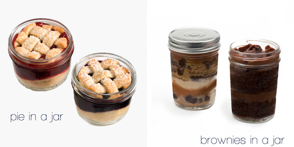 Unique Wedding Favors: Pie and Bronies in a Jar
