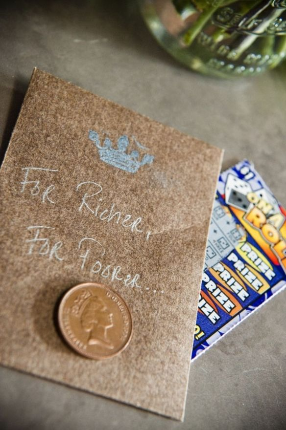 Unique Wedding Favor: Scratch-off lottery tickets