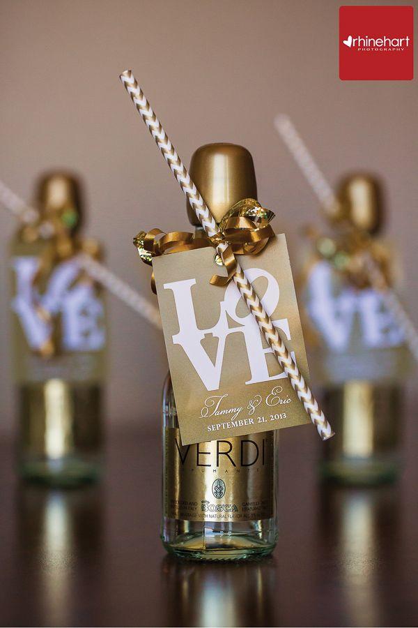 Unique Wedding Favors: Mini Champagne Bottles