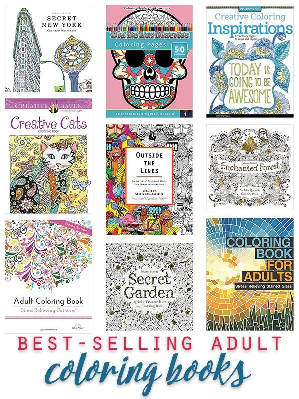 Best Selling Adult Coloring Books | ShopGirlDaily.com