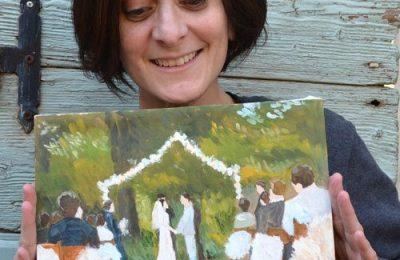 Custom Wedding Painting