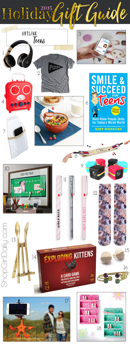 2015 Holiday Gift Guide: Gifts for Teens
