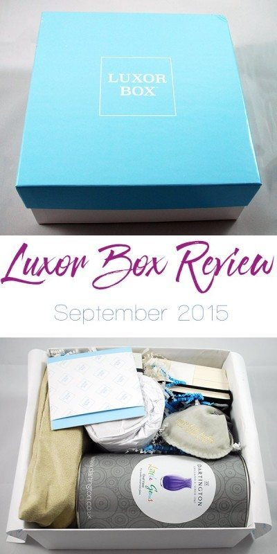 Luxor Box Review - September 2015 | ShopGirlDaily.com