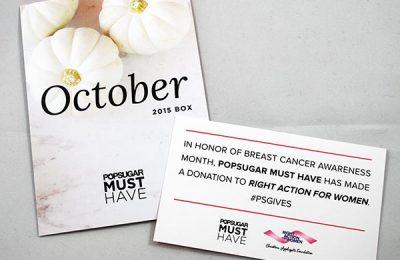 PopSugar Must Have Box - October 2015