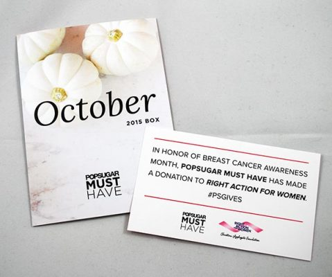 Here's What I Received In The October Popsugar Must Have Box