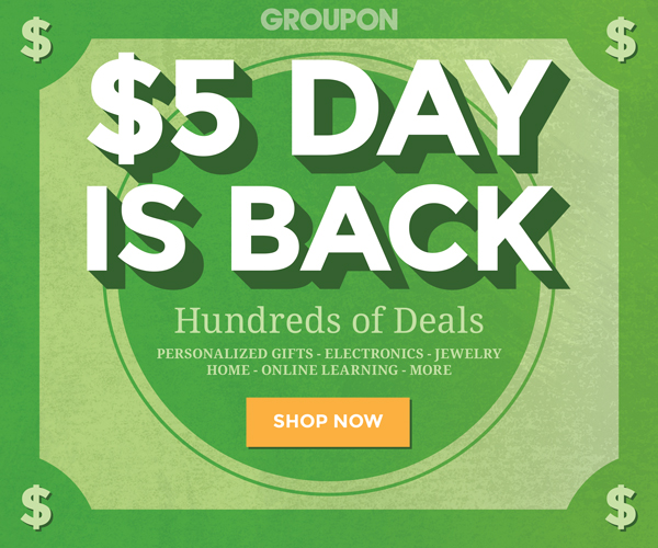 $5 Deal Day at Groupon