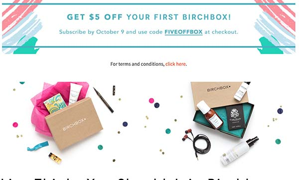 Birchbox Discount - $5 Off Your First Month