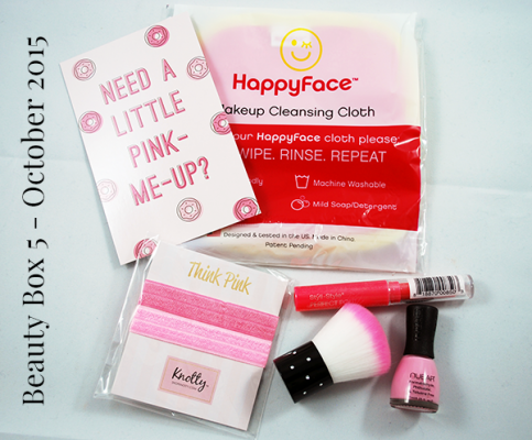 Here's What I Received In My October Beauty Box 5