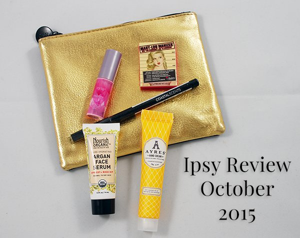 Ipsy Review October 2015