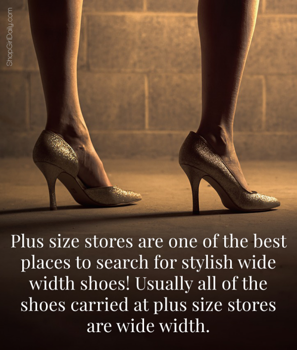 Tip for Shopping for Wide Width Shoes: Check out Plus Size Stores   ShopGirlDaily.com