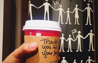 Veterans Get A Free Coffee At Starbucks