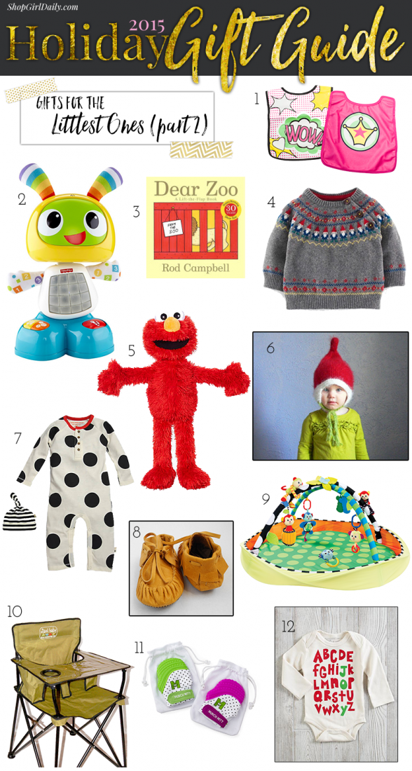 2015 Holiday Gift Guide: Gifts for Babies | ShopGirlDaily.com's 2015 Holiday Gift Guide