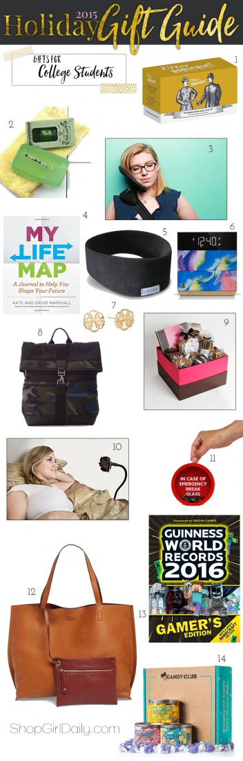 2015 Holiday Gift Guide: Gifts for College Students