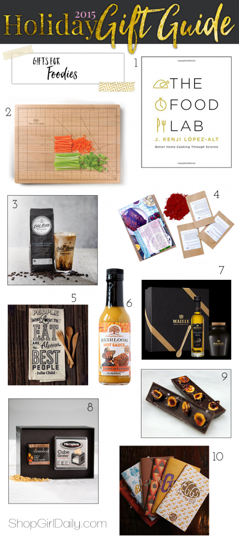 2015 Holiday Gift Guide: Gifts for Foodies | ShopGirlDaily.com