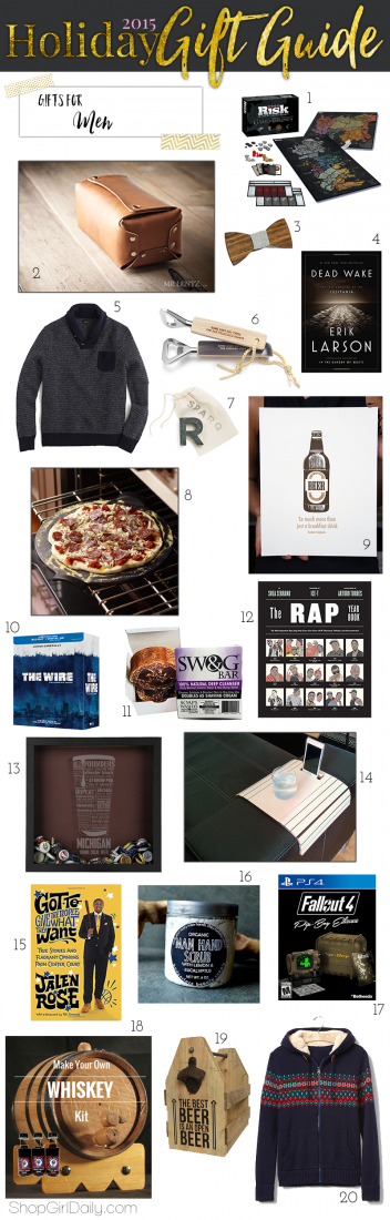 2015 Holiday Gift Guide: Gifts for Men