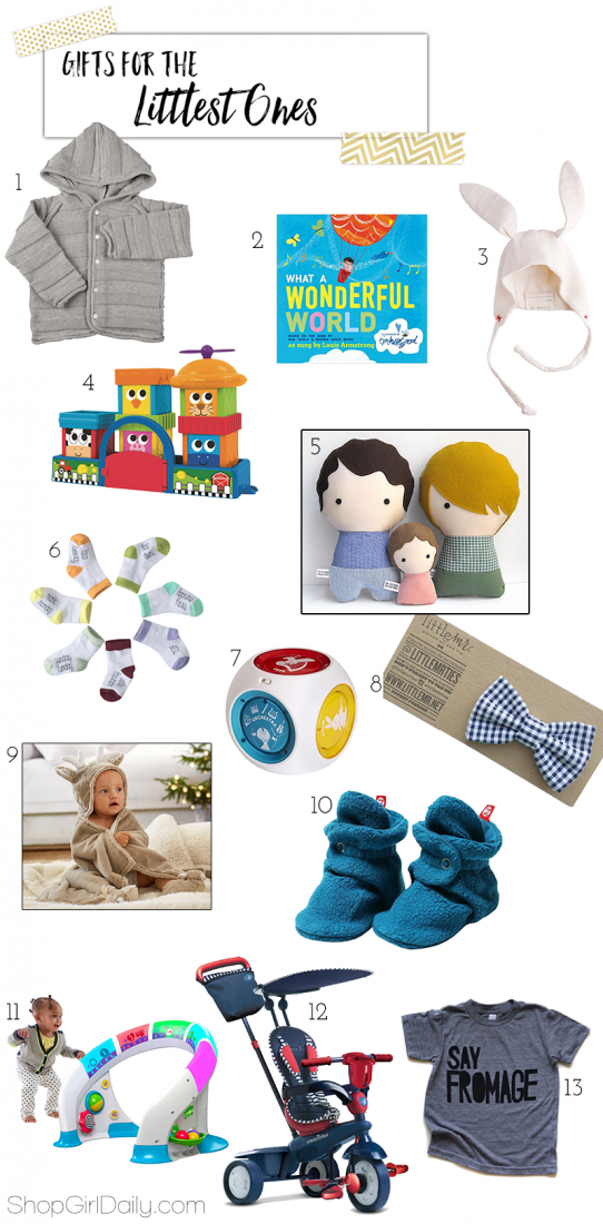 Gifts for the Littles - Gifts for Babies | ShopGirlDaily.com 2015 Holiday Gift Guide