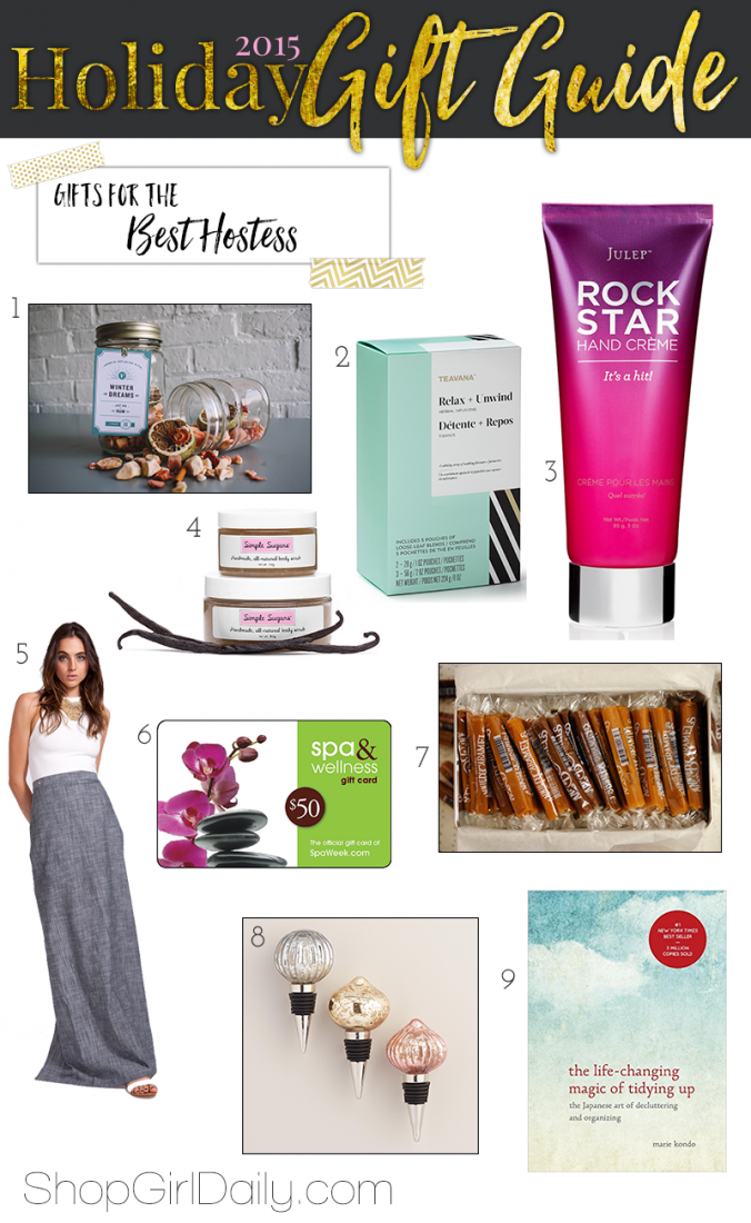 Hostess Gift Ideas | ShopGirlDaily.com's 2015 Holiday Gift Guide