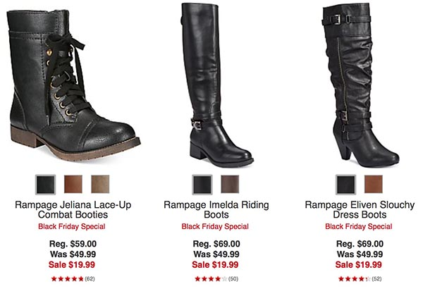 fantastic savings undefeated x half off One Fab Deal: $19.99 Boot Sale at Macy's - Shop Girl Daily
