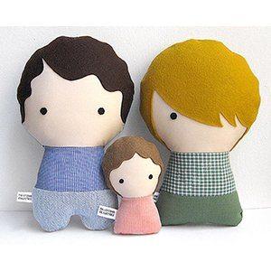 Handmade Personalized Family Dolls | ShopGirlDaily.com 2015 Holiday Gift Guide