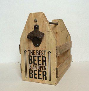 Gift Idea: Wood Beer Carrier