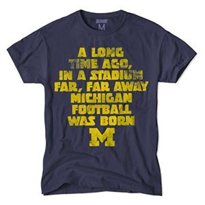 Gift Ideas for Star Wars fans: Star Wars Michigan T-Shirt - The collegiate line of Star Wars tees is so cute! | ShopGirlDaily.com's 2015 Holiday Gift Guide