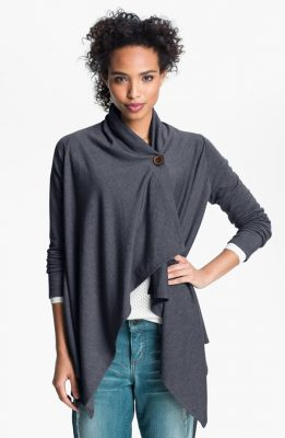 Gift Guide For Less: Bobeau Asymmetrical Fleece Wrap Cardigan