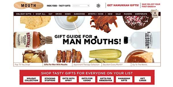 13 Unique Stores for Gifts: Mouth.com