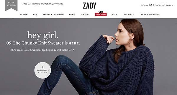 13 Unique Online Stores for Gifts: Zady