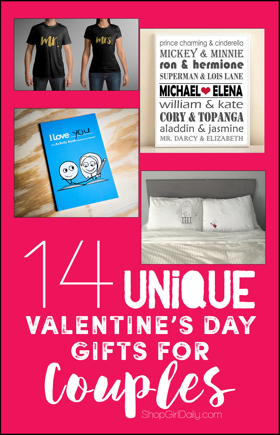 14 Unique Valentine's Day Gifts for Couples | ShopGirlDaily.com