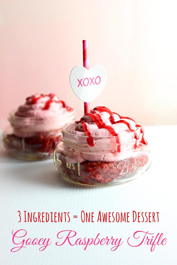 Valentine's Day Desserts: 3 Ingredient Raspberry Trifle