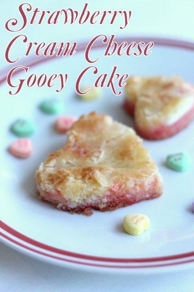 Strawberry Cream Cheese Gooey Cake