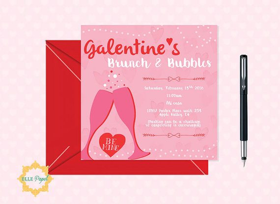 Must-Haves for your Galentine's Day Celebration: Galentine's Day Celebration Invitation