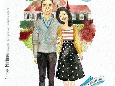 Valentine's Day Gifts Fro Couples: Watercolor Couple Portrait