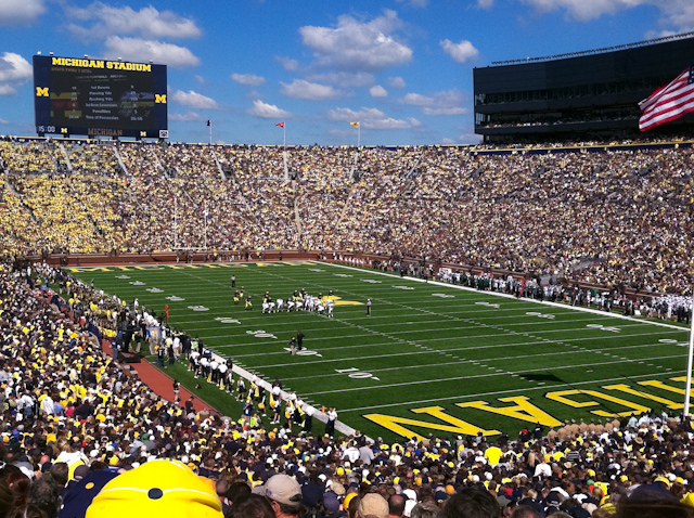Michigan Bucket List: See a football game in Michigan Stadium