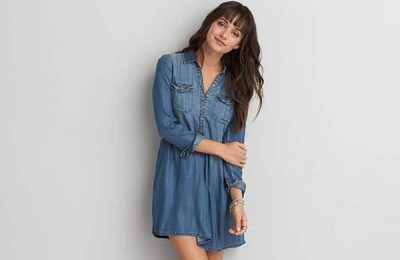 Chambray Shirtdress From AEO