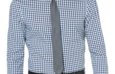 Perry Ellis Black Friday Sale: Slim Fit Gingham Plaid Dress Shirt
