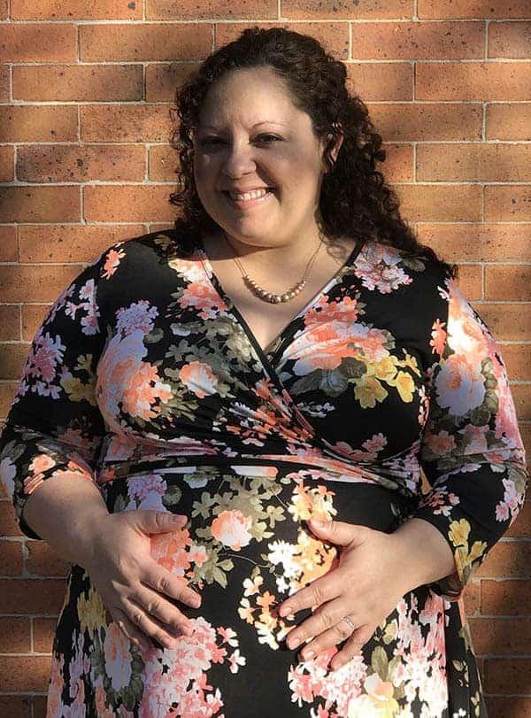 e865e59bbd7 Lisa Koivu - Black Floral Sash Tie Plus Maternity Nursing Maxi Dress from Pink  Blush
