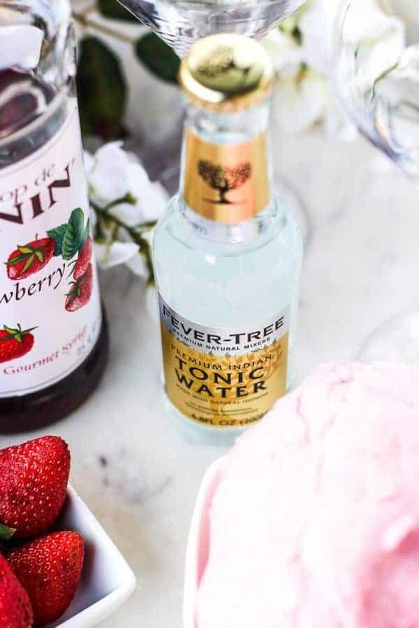 Valentine's Day Mocktail Ingredients