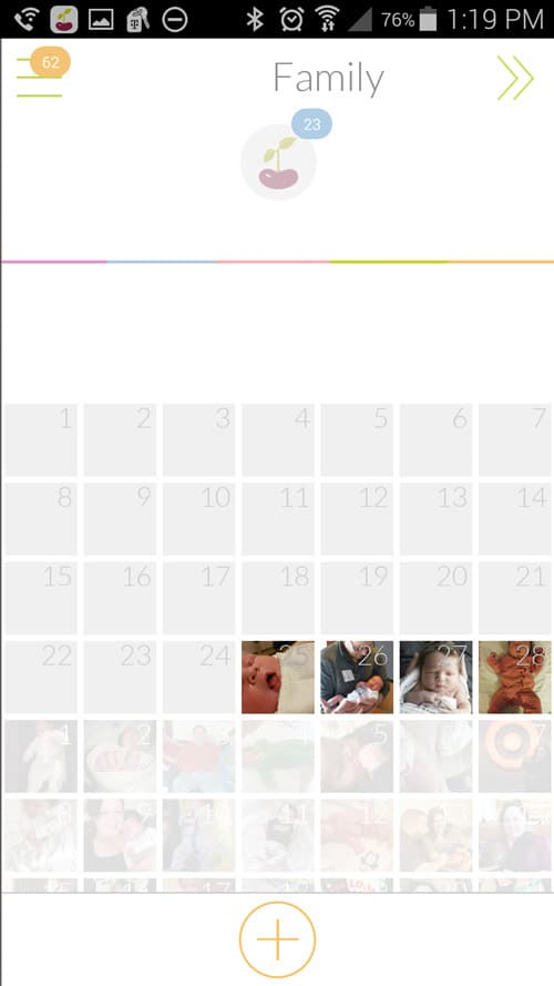 Use Tinybeans to share photos with family.