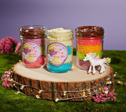 Unicorn Cupcake Jars